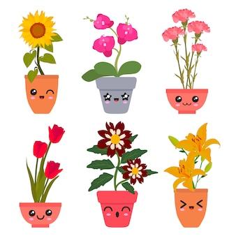 Flores kawaii