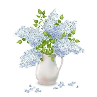 Flores lilás em um vaso