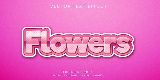 Flores modelo de estilo de efeitos de texto