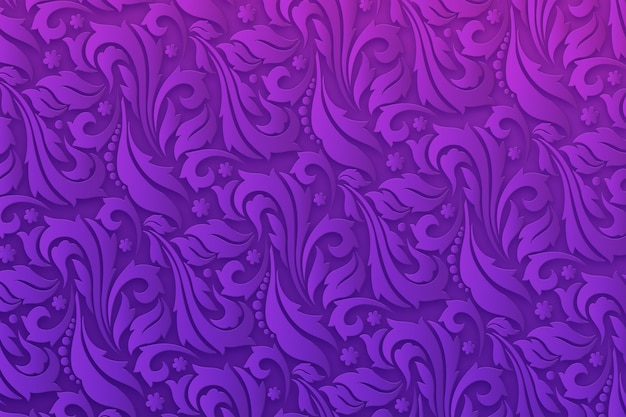 Flores ornamentais abstratas fundo roxo