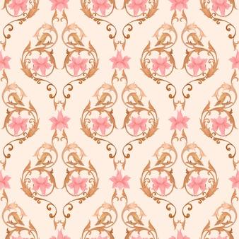 Flores ornamento padrão sem costura para papel de parede ou murais de parede