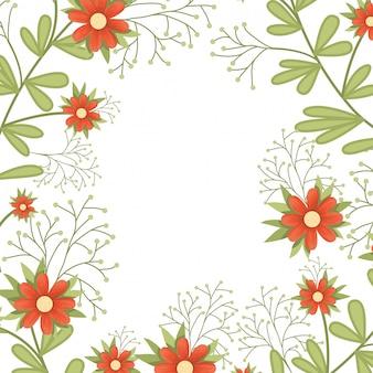 Flores, padrão, isolado, ícone