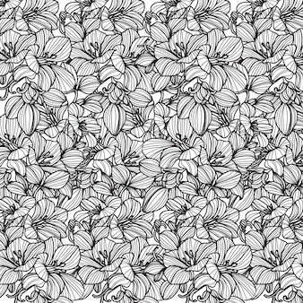 Flores padrão sem emenda