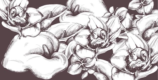 Flores padrão vintage