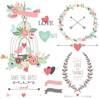 Flores para casamento vintage e gaiola