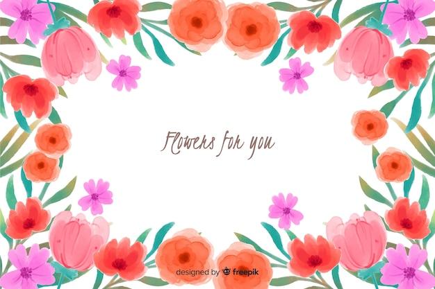 Flores para você fundo floral aquarela