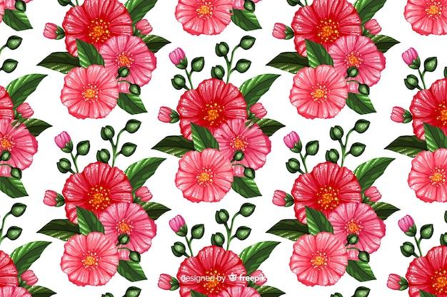 Flores pintadas de fundo