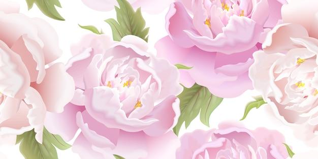 Flores sem costura Vetor Premium