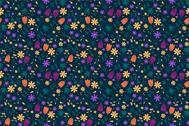 Flores servindo coloridas imprimir fundo