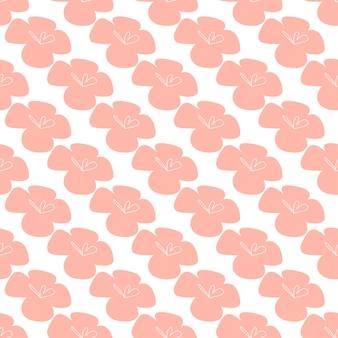 Flores tropicais de vetor patten. design sem costura com elementos botânicos simples. arquivo editável do vetor aloha hawaii. cores de tom pastel
