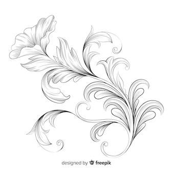Flores vintage barrocas