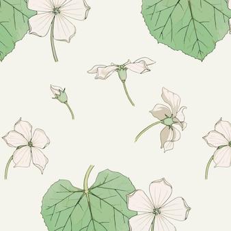 Flores vintage de pervinca