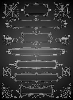 Floresça o conjunto de elementos de design caligráfico. símbolos de decoração de página para embelezar seu layout