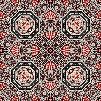 Floresça o padrão de azulejos. padrão sem emenda geométrico de mandala abstrata