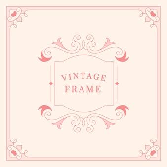 Floresce a ilustração de quadro vintage ornamento