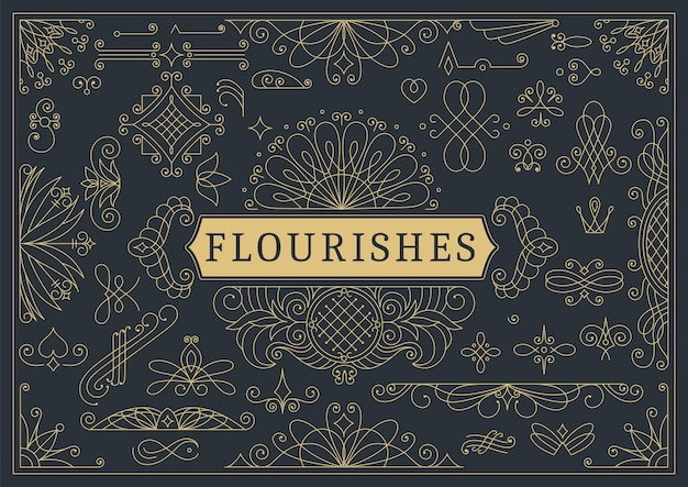 Floresce fundo ornamental vintage caligráfico.