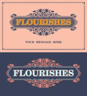 Floresce moldura ornamental. modelo de vetor cartão vintage ornamento. convite de casamento retrô, ilustração vetorial