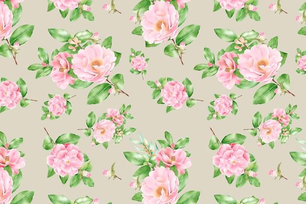 Florescência floral padrão floral sem costura