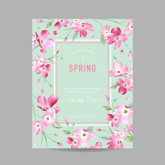 Florescendo a primavera e o quadro floral do verão. flores de sakura em aquarela para convite, casamento, cartão de chá de bebê