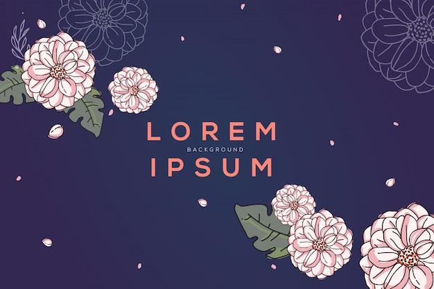 Florescendo fllower design background