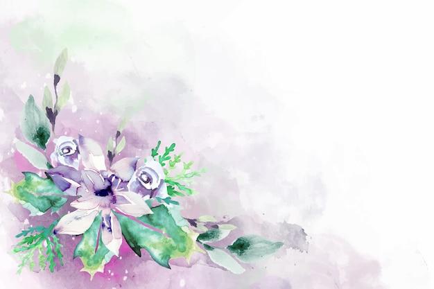 Florescendo flores em aquarela para o projeto de plano de fundo