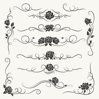 Florescer rosas ornamentos decorativos