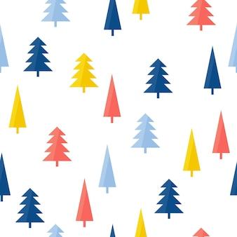 Floresta artesanal abstrata sem costura de fundo. capa desenhada de mão para cartão de presente de design, papel de parede de aniversário, álbum, álbum de recortes, papel de embrulho de férias, impressão de bolsa, camiseta, fralda de bebê etc.