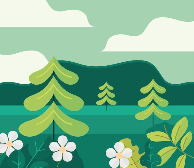 Floresta da natureza da paisagem