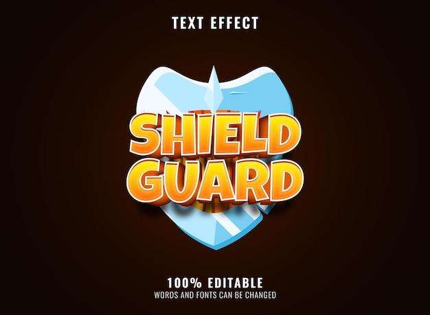Floresta estelar engraçada com efeito de texto do título do logotipo do jogo editável com moldura de madeira