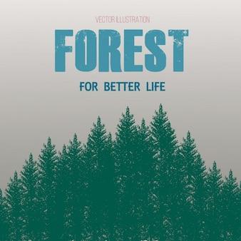 Floresta ilustração flayer