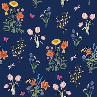 Florestas de flores de flores de tulipas