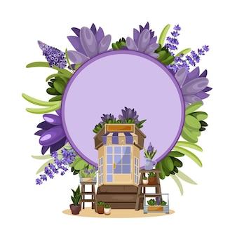 Floricultura detalhada com flores