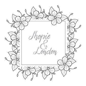 Florista feminina florista casamento linha quadro ornamento