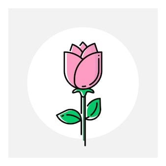 Flower line art