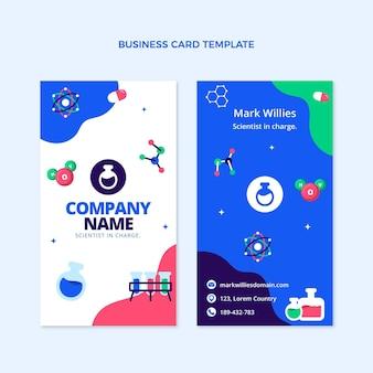 Flt design ciência cartão de visita vertical