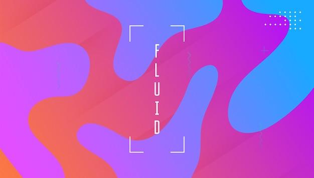 Fluid poster. formas de gradiente. textura plástica. spectrum paper. página inicial do fluxo. banner digital violeta. geometria criativa do wave. layout dinâmico plano. pôster fluido violeta