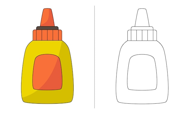 Fluido de correção de ilustração de livro para colorir infantil