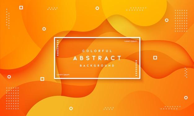 Fluido dinâmico abstrato texturizado fundo laranja