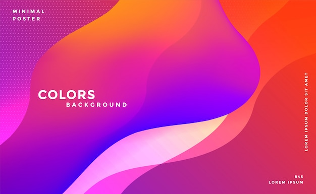 Fluido vibrante abstrato cores de fundo