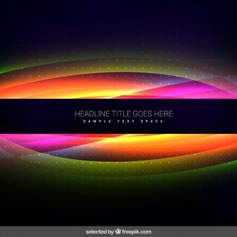 Fluorescente fundo ondulado
