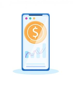 Flutuações monetárias banco de internet móvel