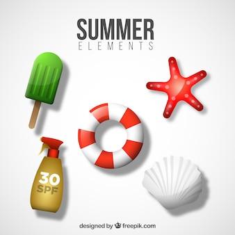 Flutuador e outros objetos de verão