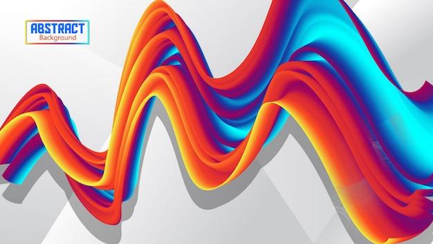 Fluxo abstrato ondulado fundo com gradação