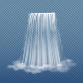 Fluxo de água clara da cachoeira