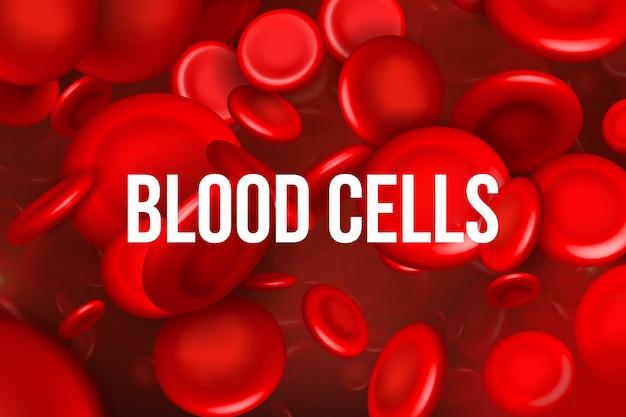 Fluxo de glóbulos vermelhos, eritrócitos médicos.