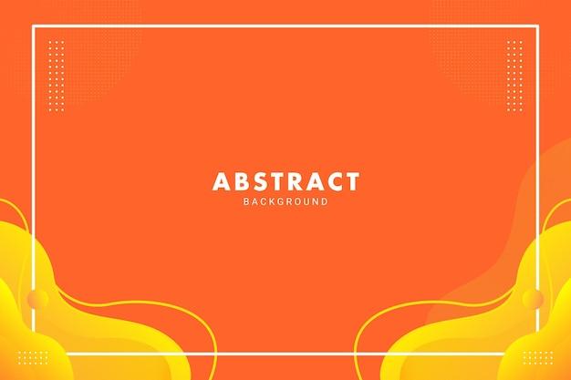 Fluxo de líquido abstrato laranja brilhante simétrico para fundo de banner de folheto