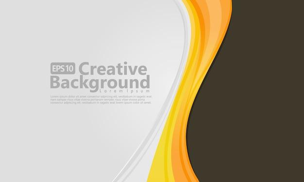 Fluxo de onda laranja e amarelo abstrato