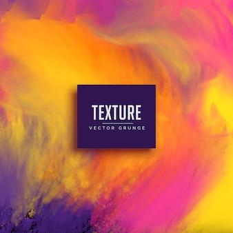 Fluxo de tinta da aguarela fundo grunge textura