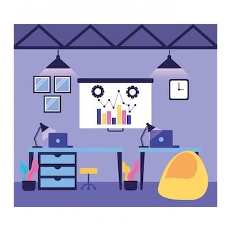 Fluxo de trabalho e infográfico
