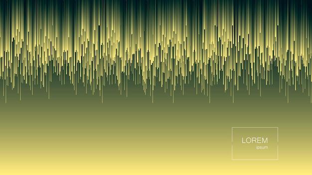 Fluxo dinâmico linhas brilhantes abstrato